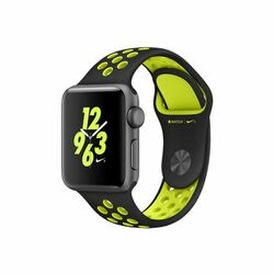 Apple Watch Nike+, 38mm Space Grey Aluminium Case with Black/Volt Nike Sport Band MP082CN/A