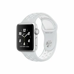Apple Watch Nike+, 42mm Silver Aluminium Case with Platinum / White Nike Sport Band MQ192CN/A