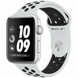 Apple Watch Nike+ GPS, Series 3, 38mm Silver Aluminium Case with Pure Platinum/Black Nike Sport Band MQKX2CN/A