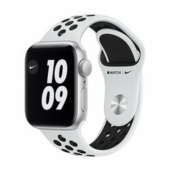 Apple Watch Nike Series 6 GPS, 44mm Silver Aluminium Case with Pure Platinum/Black Nike Sport Band - Regular