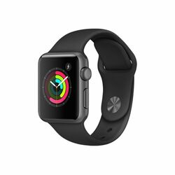 Apple Watch Series 1, 38mm Space Grey Aluminium Case with Black Sport Band MP022CN/A