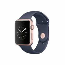 Apple Watch Series 1, 42mm Rose Gold Aluminium Case with Midnight Blue Sport Band MNNM2CN/A