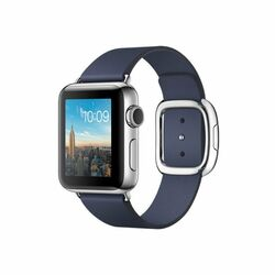 Apple Watch Series 2, 38mm Stainless Steel Case with Midnight Blue Modern Buckle - Medium MNP92CN/A
