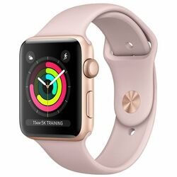 Apple Watch Series 3 GPS, 38mm Gold Aluminium Case with Pink Sand Sport Band MQKW2CN/A