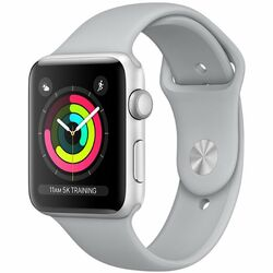 Apple Watch Series 3 GPS, 38mm Silver Aluminium Case with Fog Sport Band MQKU2CN/A