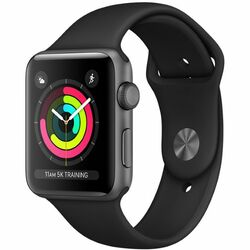 Apple Watch Series 3 GPS, 38mm Space Grey Aluminium Case with Black Sport Band MQKV2CN/A