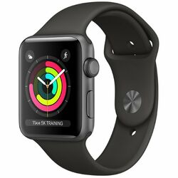 Apple Watch Series 3 GPS, 38mm Space Grey Aluminium Case with Grey Sport Band MR352CN/A