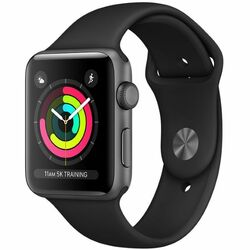 Apple Watch Series 3 GPS, 42mm Space Grey Aluminium Case with Black Sport Band MQL12CN/A