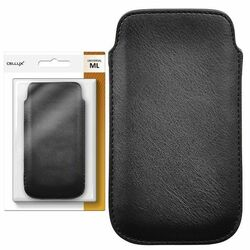 CELLUX PU Leather Pouch - ML, black, do veľkosti 60x11x123mm (iPhone 5)