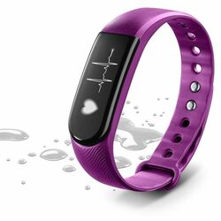Fitness bluetooth náramok CellularLine Easyfit Touch Hr s monitorom srdcového tepu, Purple