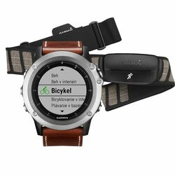 Garmin FENIX 3, Sapphire, Silver Leather - Performer Bundle | Odolné inteligentné hodinky, EU