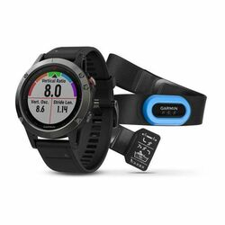 Garmin FENIX 5 Grey, Black Band - Performer Bundle | Odolné inteligentné hodinky