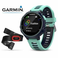 Garmin FORERUNNER 735XT, Midnight blue & Frost blue, Run Bundle, EU