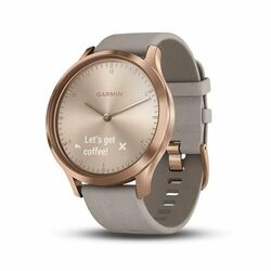 Garmin VívoMove HR Premium, Rose Gold - Gray Suede