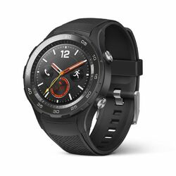 Huawei Watch W2 Sport, 4G LTE, 45mm, Stainless Steel, Carbon Black