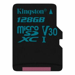 Kingston Canvas Go Micro SDXC 128GB, UHS-I U3, Class 10 - rýchlosť 90/45 MB/s (SDCG2/128GBSP)
