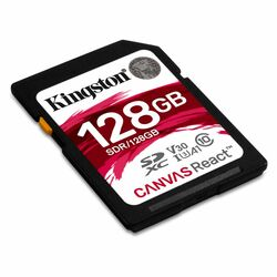 Kingston Canvas React Secure Digital SDXC UHS-I U3 A1 128GB | Class 10, rýchlosť až 100MB/s (SDR/128GB) - openbox