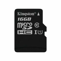 Kingston Canvas SeIect Micro SDHC 16GB, UHS-I U1, Class 10 - rýchlosť 80 MB/s (SDCS/16GBSP)