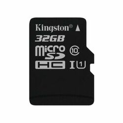 Kingston Canvas SeIect Micro SDHC 32GB, UHS-I U1, Class 10 - rýchlosť 80 MB/s (SDCS/32GBSP)