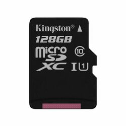 Kingston Canvas SeIect Micro SDXC 128GB, UHS-I U1, Class 10 - rýchlosť 80 MB/s (SDCS/128GBSP)