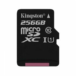 Kingston Canvas SeIect Micro SDXC 256GB, UHS-I, Class 10 - rýchlosť 80 MB/s (SDCS/256GBSP)