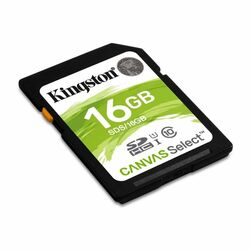 Kingston Canvas SeIect Secure Digital SDHC UHS-I 16GB | Class 10, rýchlosť až 80MB/s (SDS/16GB)