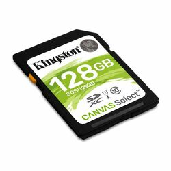 Kingston Canvas SeIect Secure Digital SDXC UHS-I 128GB | Class 10, rýchlosť až 80MB/s (SDS/128GB)