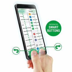 Ochranné temperované sklo 4Smarts - Smart Buttons pre Apple iPhone 6 Plus,  Apple iPhone 6S Plus
