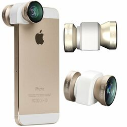 Olloclip 4in1 Lens System pre Apple iPhone 5 a Apple iPhone 5S, Gold/White