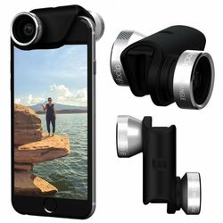 Olloclip 4in1 Lens System pre Apple iPhone 5 a Apple iPhone 5S, Silver/Black