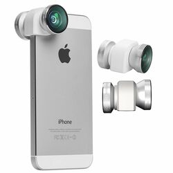Olloclip 4in1 Lens System pre Apple iPhone 5 a Apple iPhone 5S, Silver/White