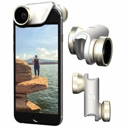 Olloclip 4in1 Lens System pre Apple iPhone 6/6S a Apple iPhone 6/6SPlus, Gold/White