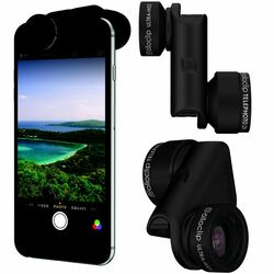 Olloclip Core Lens + 2 cases pre Apple iPhone 7 a Apple iPhone 7 Plus, Black