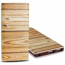 PowerBank FY-P20 - 10 000 mAh, wood - Light