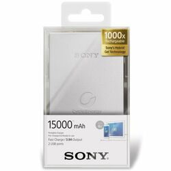 PowerBank Sony CP-S15S - 15000 mAh, White