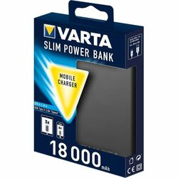 PowerBank VARTA Slim - 18000 mAh, Black