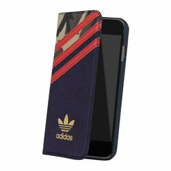 Puzdro Adidas Originals - Booklet pre Apple iPhone 6 a 6S, Oddity Red Stripe
