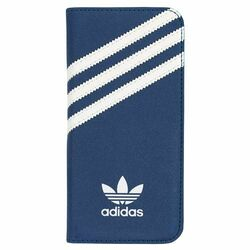 Puzdro Adidas Originals - Booklet pre Apple iPhone 6 a Apple iPhone 6S, Blue/white