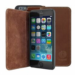 Puzdro Bugatti BookCover Oslo Leather pre Apple iPhone 6 Plus, brown