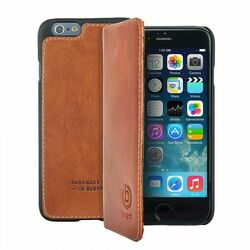 Puzdro Bugatti BookCover Oslo Leather pre Apple iPhone 6 Plus, cognac