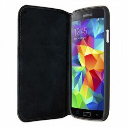 Puzdro Bugatti BookCover Oslo Leather pre Samsung Galaxy S5, black