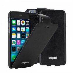 Puzdro Bugatti FlipCase Geneva pre Apple iPhone 6 Plus, Black