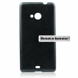 Puzdro Jelly Leather pre Microsoft Lumia 535, Black