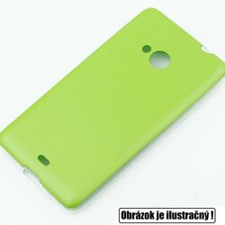 Puzdro Jelly Leather pre Microsoft Lumia 640 XL a 640 XL LTE, Lime
