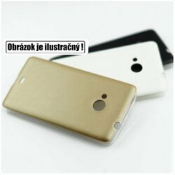 Puzdro Jelly Leather pre Sony Xperia E4 - E2105, Sony Xperia E4 Dual - E2115, Gold
