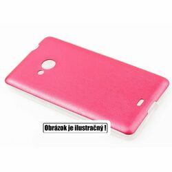Puzdro Jelly Leather pre Sony Xperia E4 - E2105, Sony Xperia E4 Dual - E2115, Red