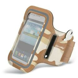 Puzdro na rameno Celly pre Huawei Ascend P7 Mini, Brown Camo