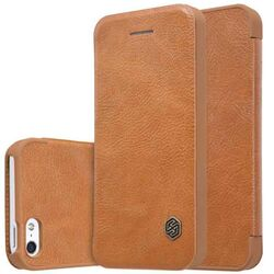 Puzdro Nillkin Qin Book pre Apple iPhone 5S, Apple iPhone SE, Brown