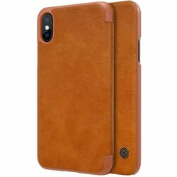 Puzdro Nillkin Qin Book pre Apple iPhone X, Brown