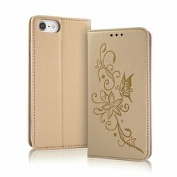 Puzdro Smart Butterfly pre Samsung Galaxy S7 Edge - G935F, Gold